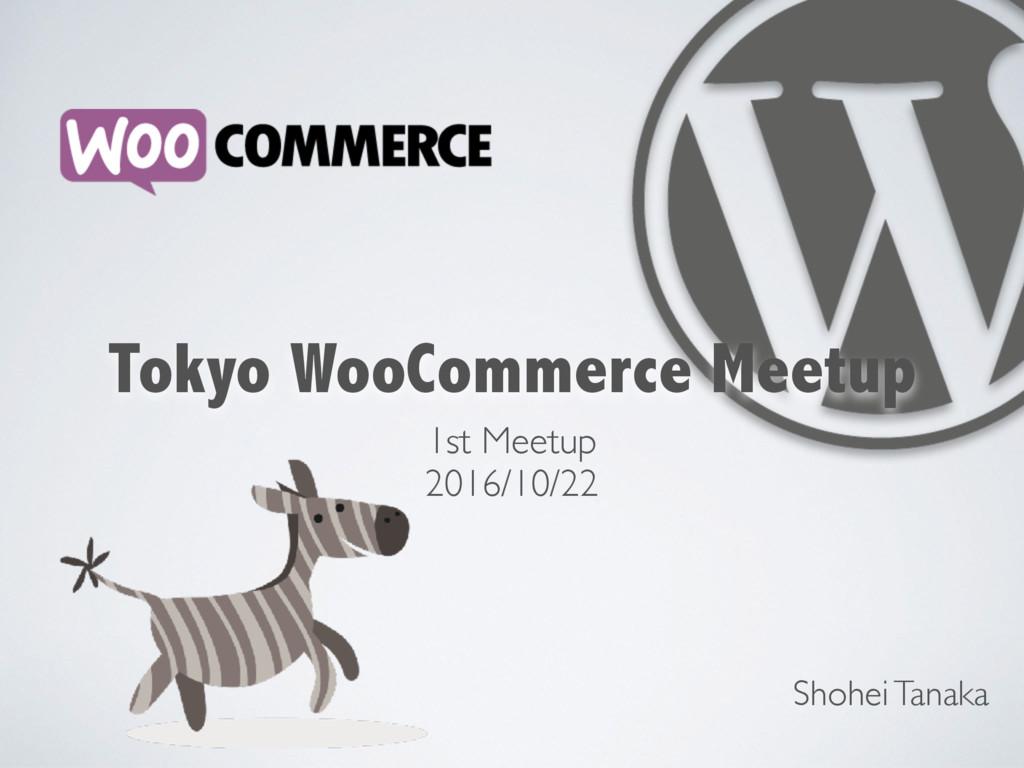 1st Meetup 2016/10/22 Shohei Tanaka Tokyo WooCo...
