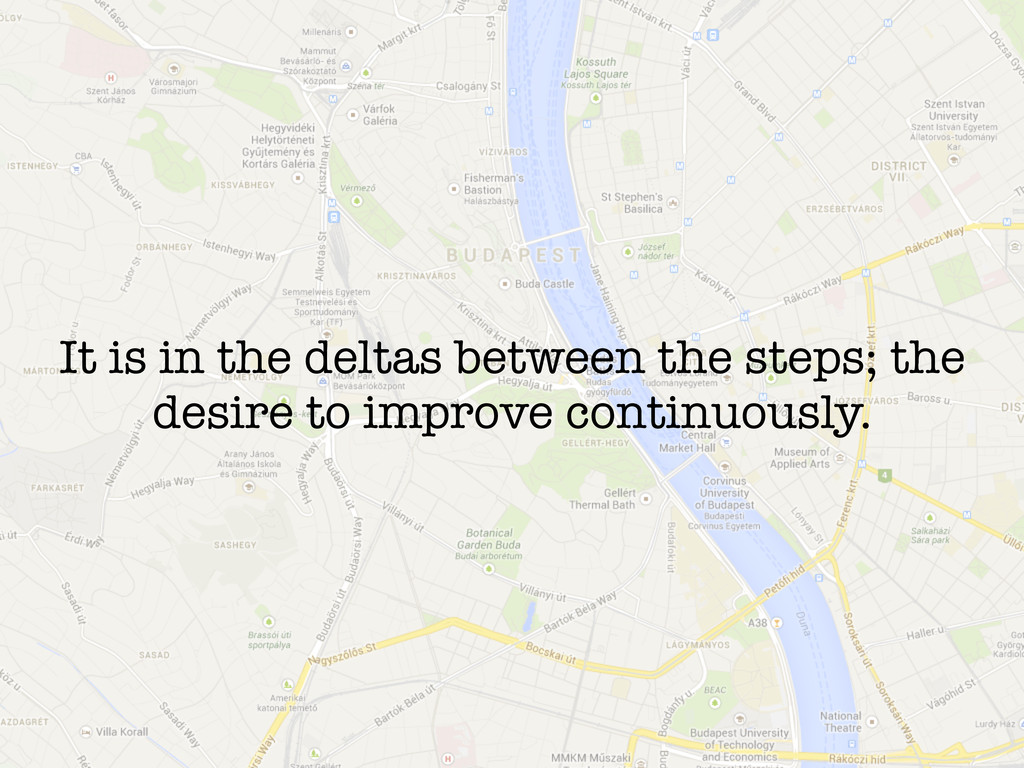 It is in the deltas between the steps; the desi...