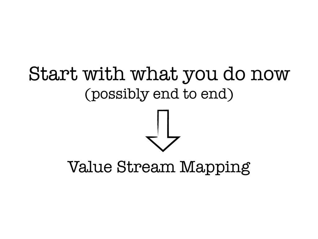 Value Stream Mapping Start with what you do now...