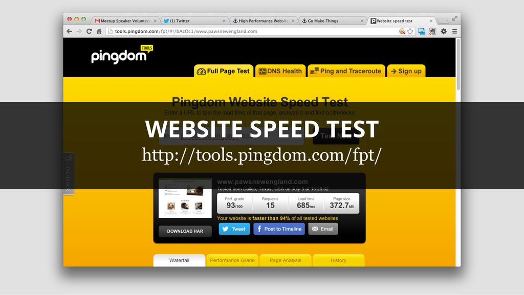 WEBSITE SPEED TEST http://tools.pingdom.com/fpt/