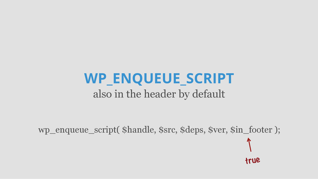WP_ENQUEUE_SCRIPT also in the header by default...