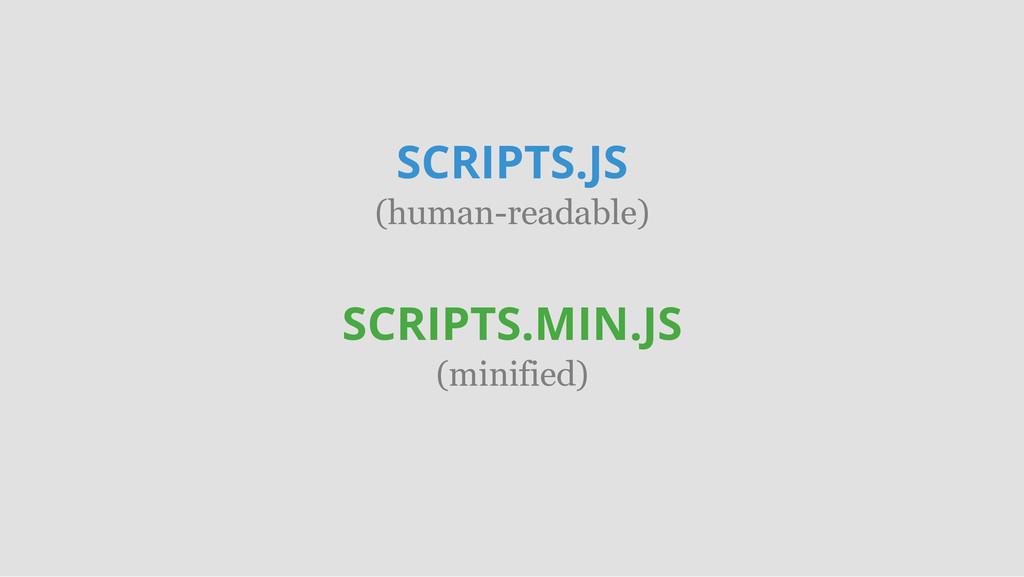 SCRIPTS.JS (human-readable) SCRIPTS.MIN.JS (min...