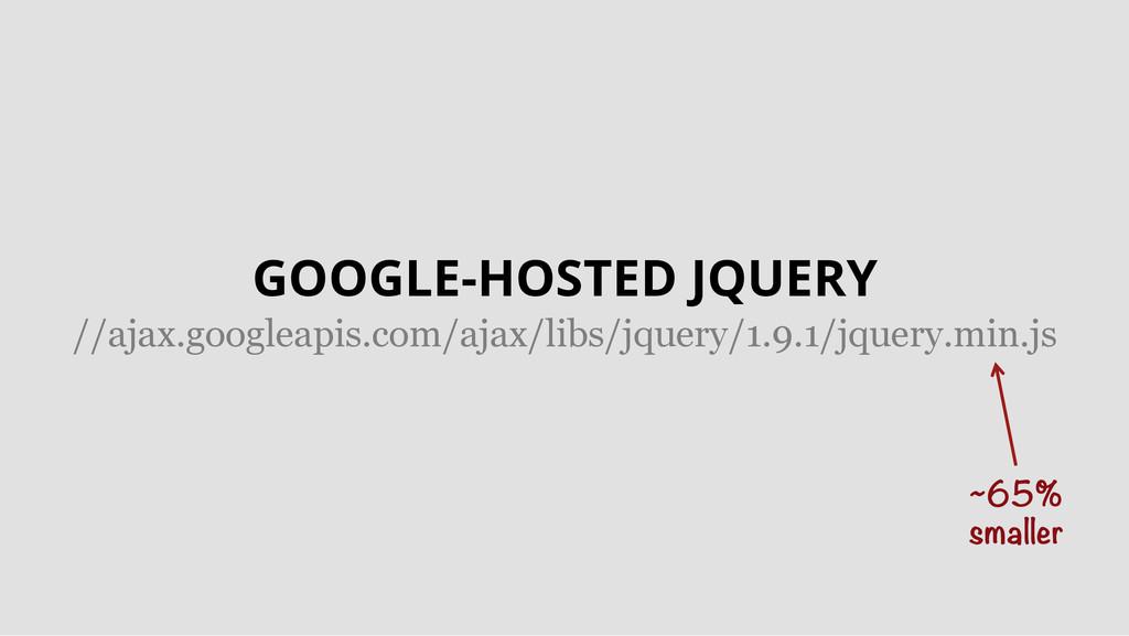 ~65% smaller GOOGLE-HOSTED JQUERY //ajax.googl...