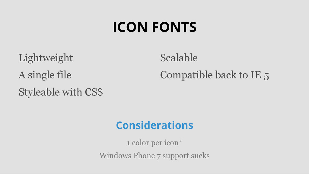 ICON FONTS Lightweight A single file Styleable ...