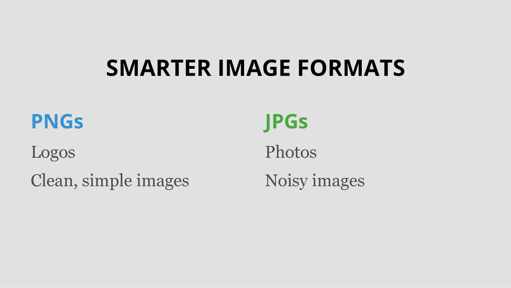 SMARTER IMAGE FORMATS PNGs Logos Clean, simple ...
