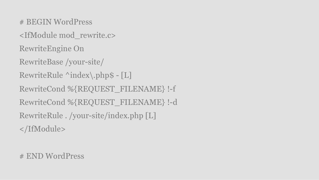 # BEGIN WordPress <IfModule mod_rewrite.c> Rewr...