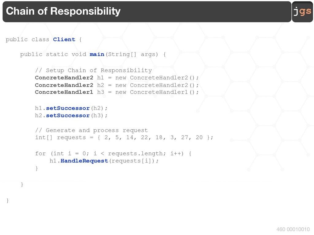 jgs 460 00010010 Chain of Responsibility public...