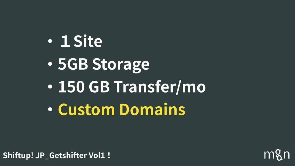 Shiftup! JP_Getshifter Vol1! ・1Site ・5GB Storag...