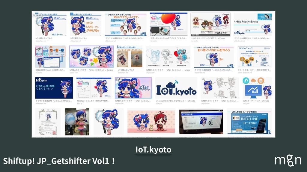 Shiftup! JP_Getshifter Vol1! IoT.kyoto