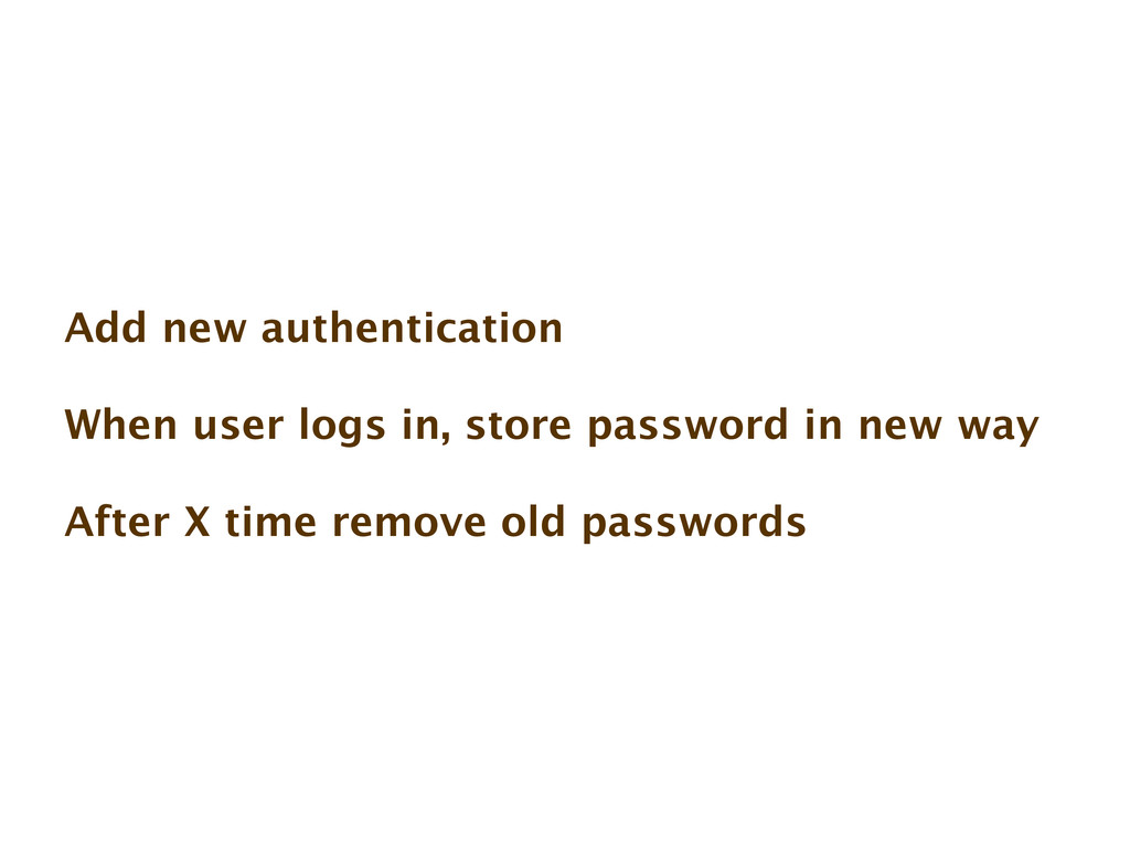 Add new authentication When user logs in, store...