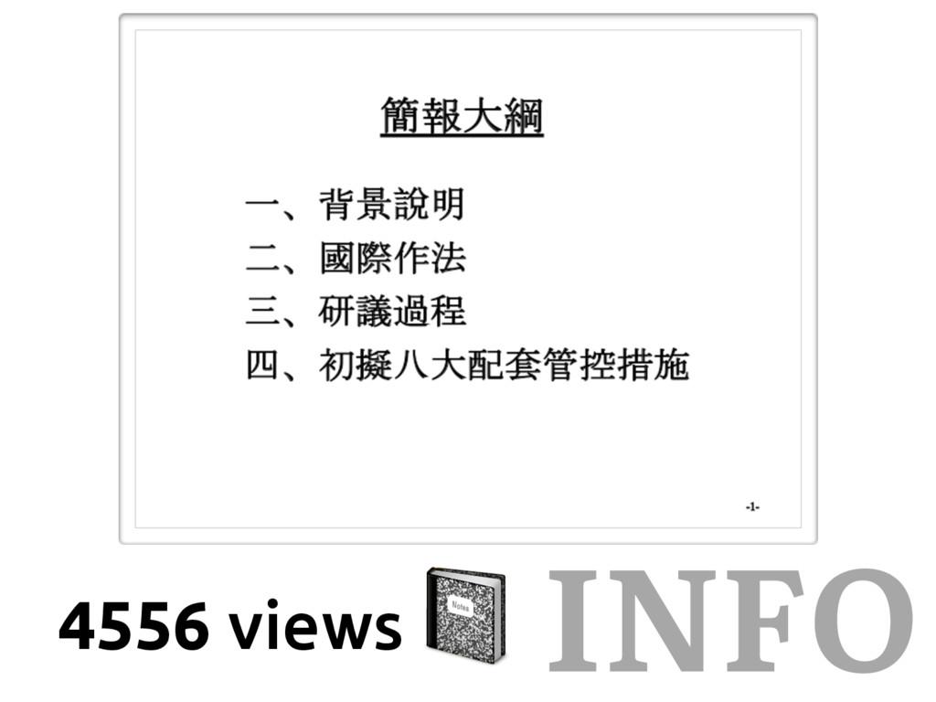 INFO 4556 views &
