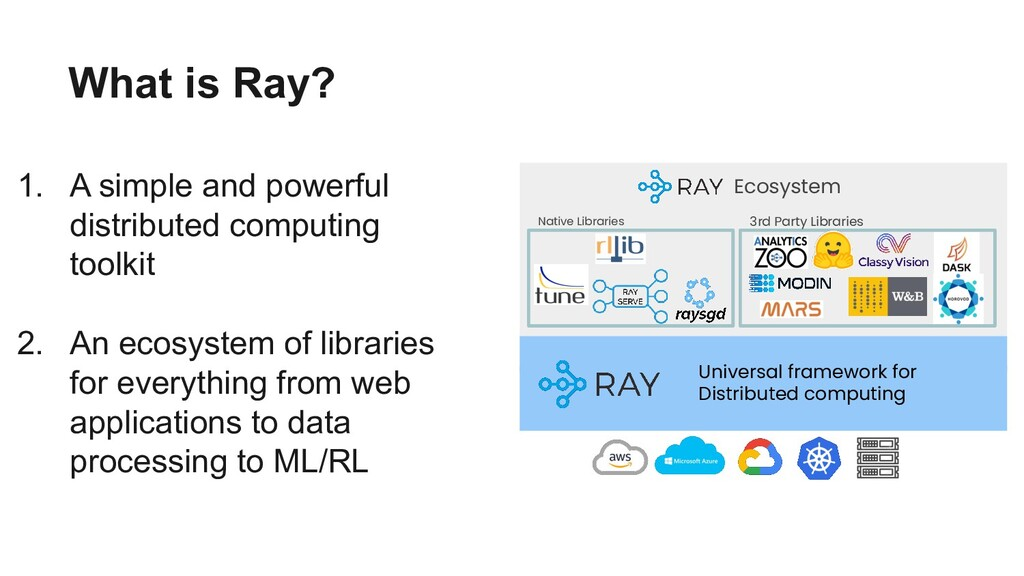 What is Ray? 1. A simple and powerful distribut...