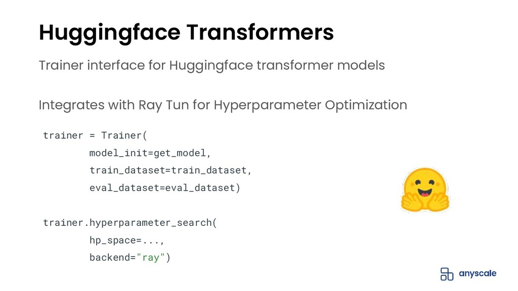 Trainer interface for Huggingface transformer m...