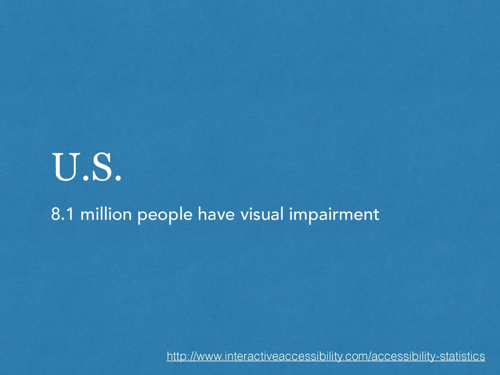 U.S. 8.1 million people have visual impairment ...