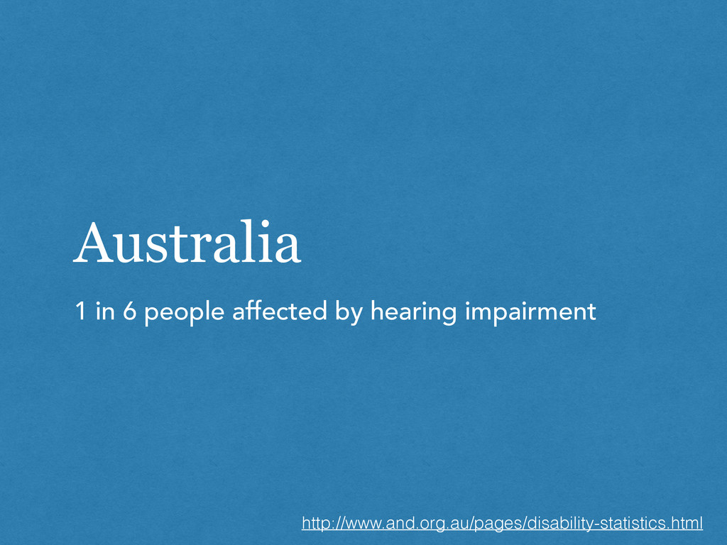Australia 1 in 6 people affected by hearing imp...