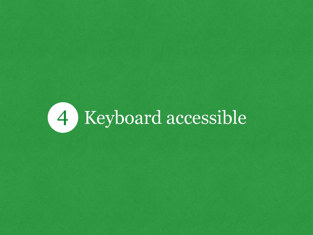 Keyboard accessible 4