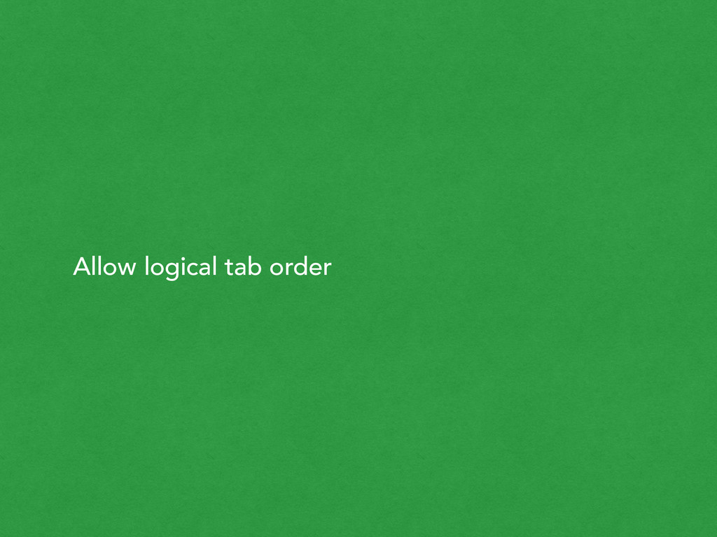 Allow logical tab order