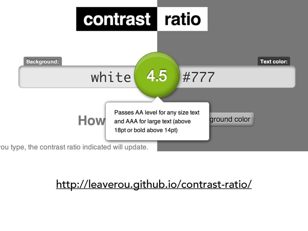 http://leaverou.github.io/contrast-ratio/
