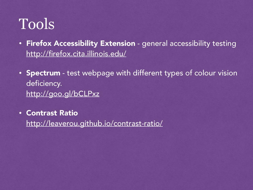 Tools • Firefox Accessibility Extension - gener...