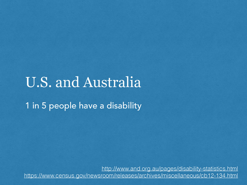 U.S. and Australia 1 in 5 people have a disabil...