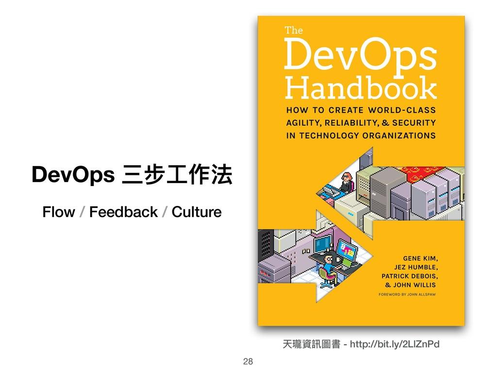 DevOps 三步⼯工作法 Flow / Feedback / Culture 天瓏資訊圖書 ...