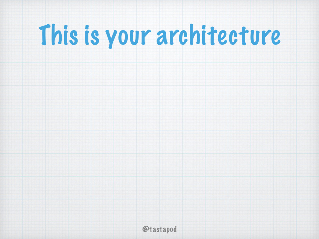 @tastapod This is your architecture