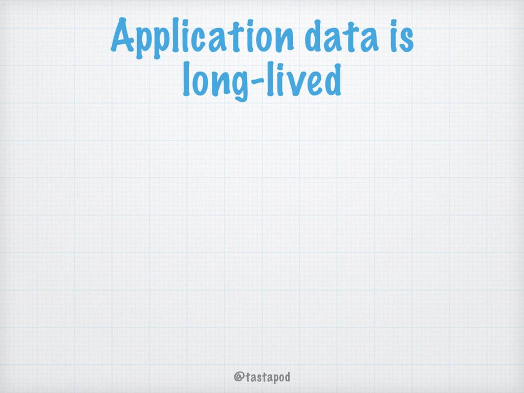 @tastapod Application data is long-lived
