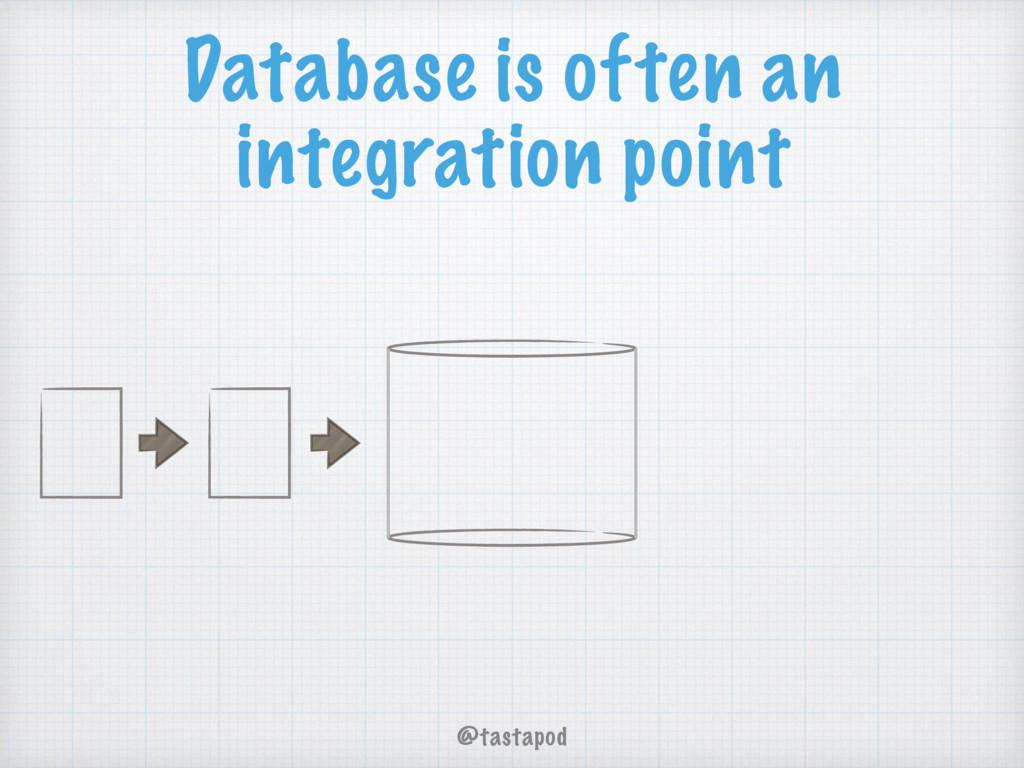 @tastapod Database is often an integration point