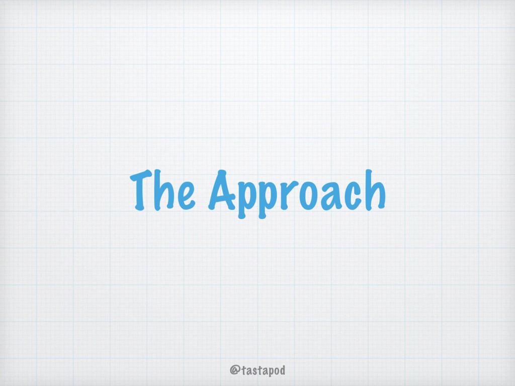 @tastapod The Approach