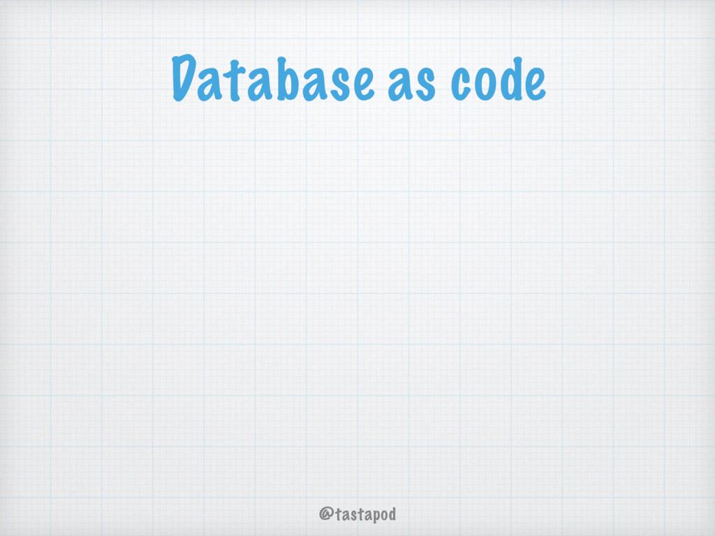 @tastapod Database as code