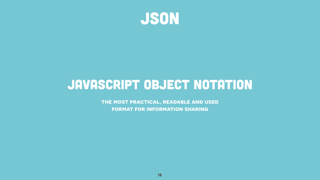 javascript object notation 18 the most practica...