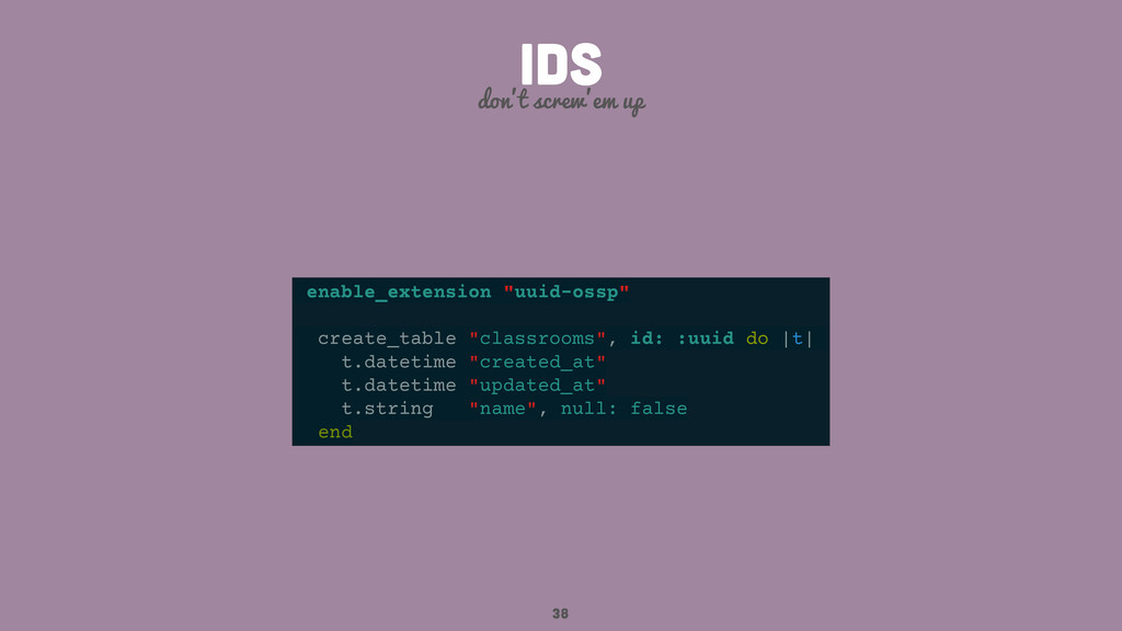"""38 IDS don't screw'em up enable_extension """"uuid..."""