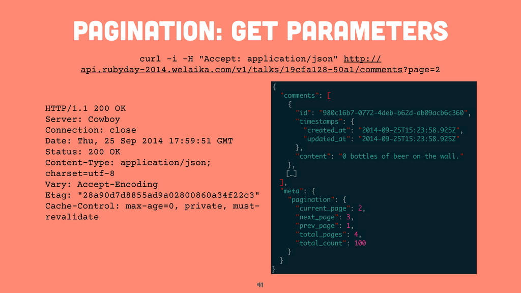 """41 pagination: get parameters curl -i -H """"Accep..."""