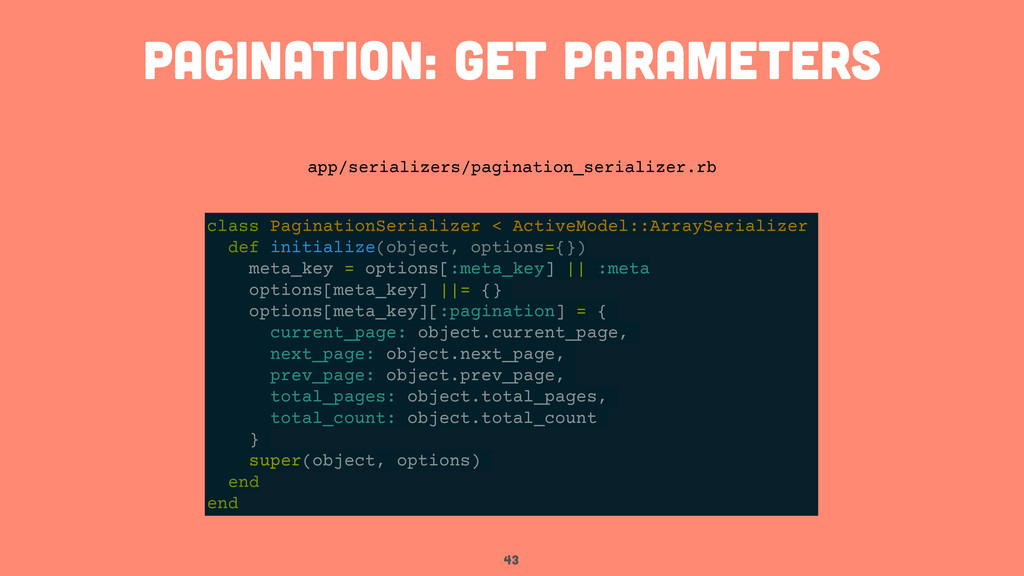 43 pagination: get parameters class PaginationS...