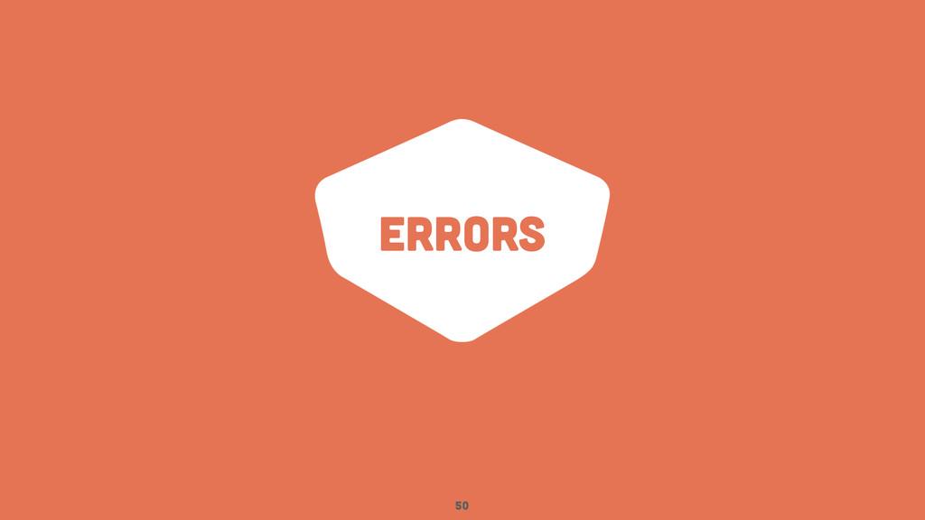 errors 50