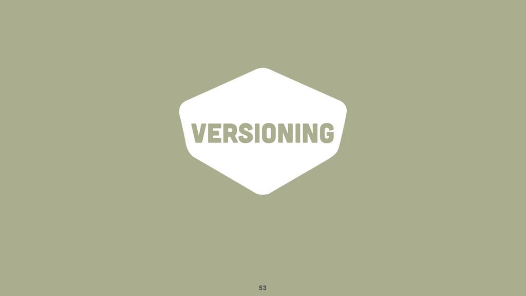 versioning 53