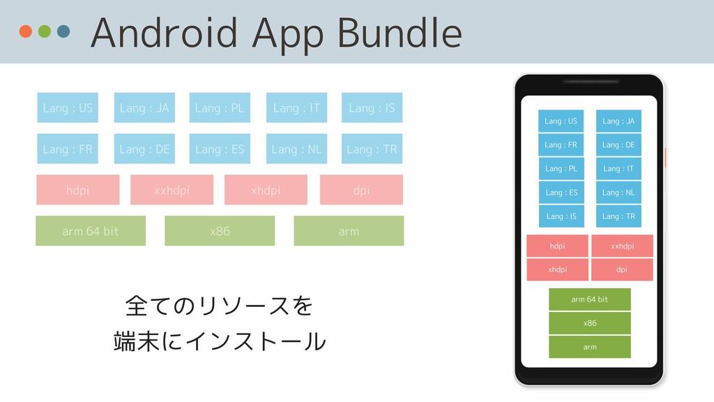 Android App Bundle arm 64 bit Lang : US hdpi x8...