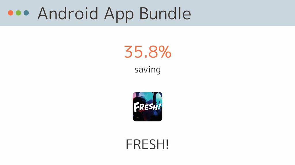 Android App Bundle FRESH! 35.8% saving