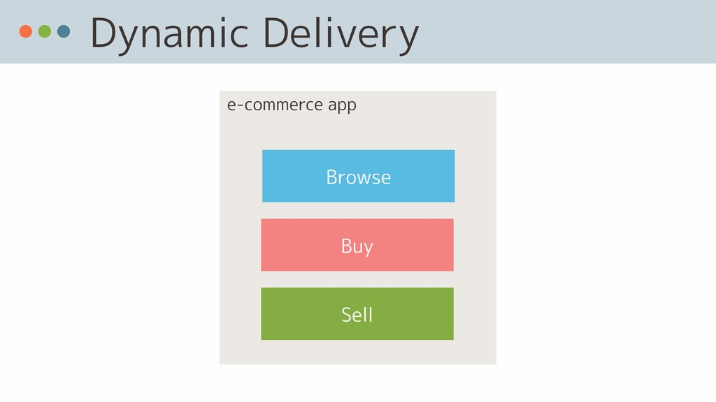 Dynamic Delivery Sell Browse Buy e-commerce app
