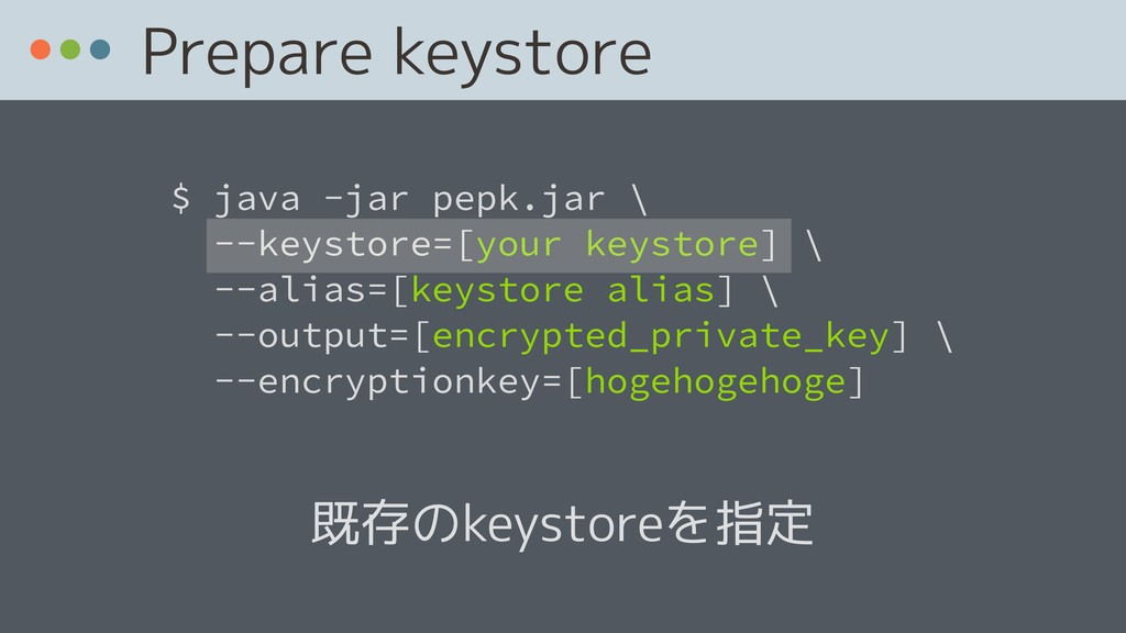 $ java -jar pepk.jar 