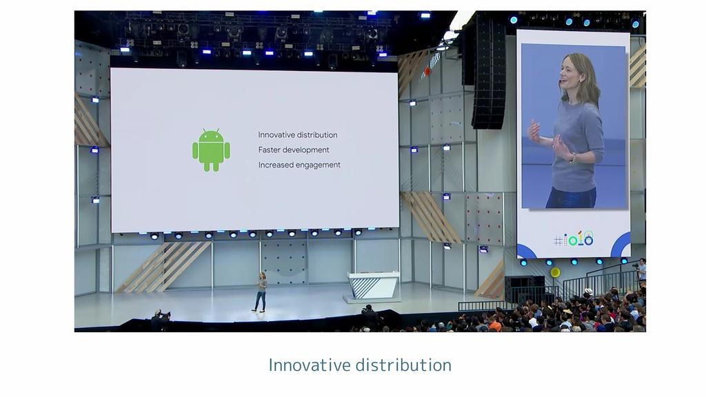 Innovative distribution