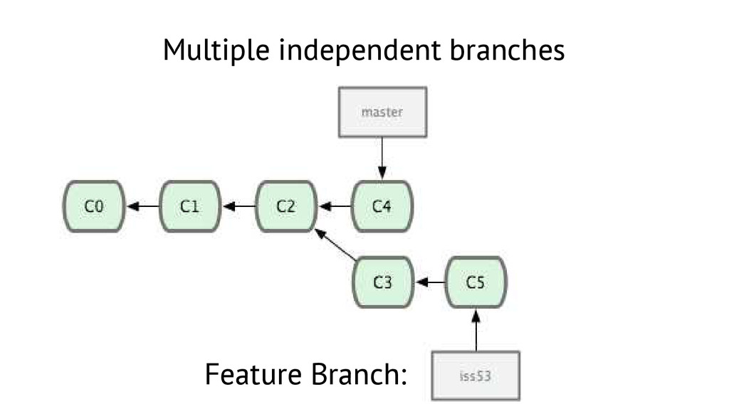 Multiple independent branches Feature Branch: