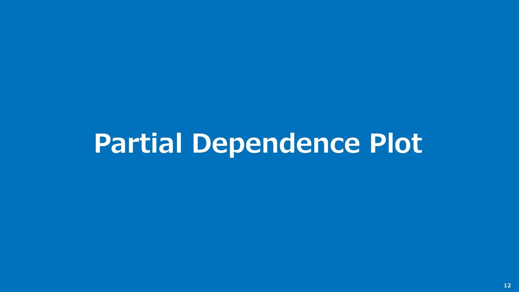 12 Partial Dependence Plot