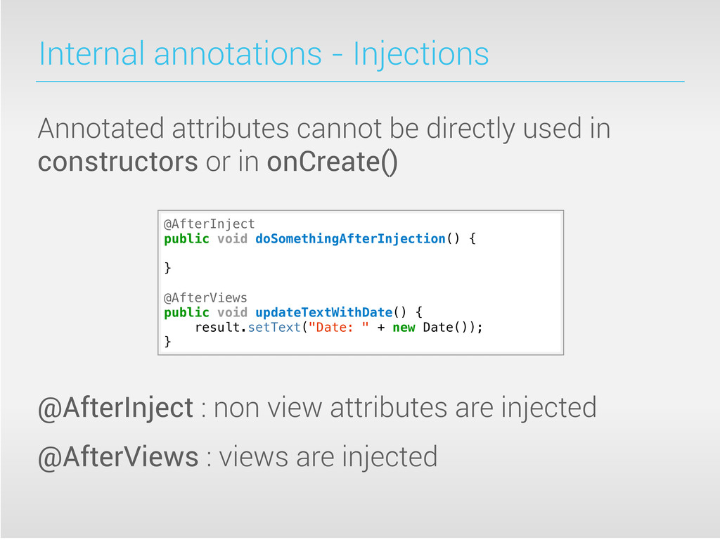 Internal annotations - Injections Annotated att...