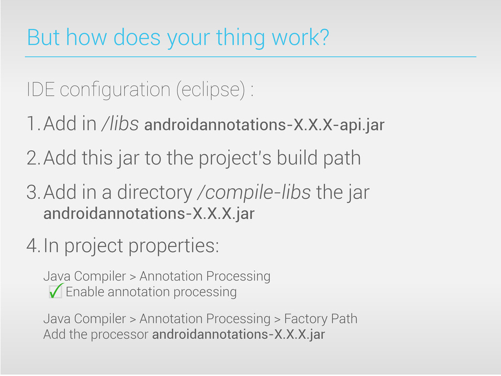 But how does your thing work? IDE configuration ...