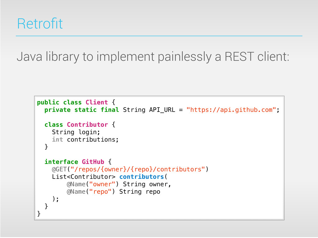 Retrofit Java library to implement painlessly a ...