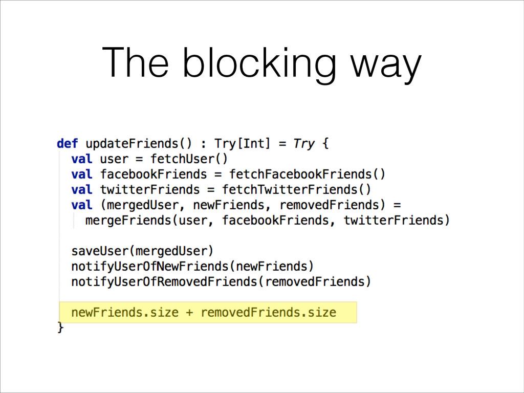 The blocking way