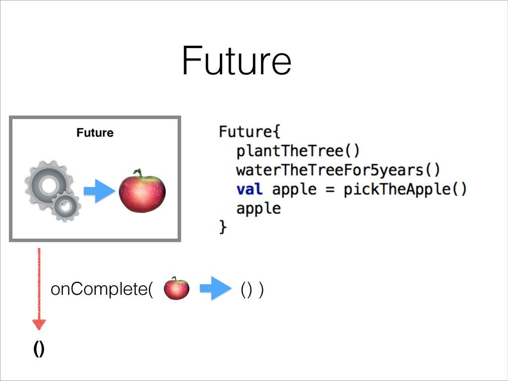 Future Future () onComplete( ) ()