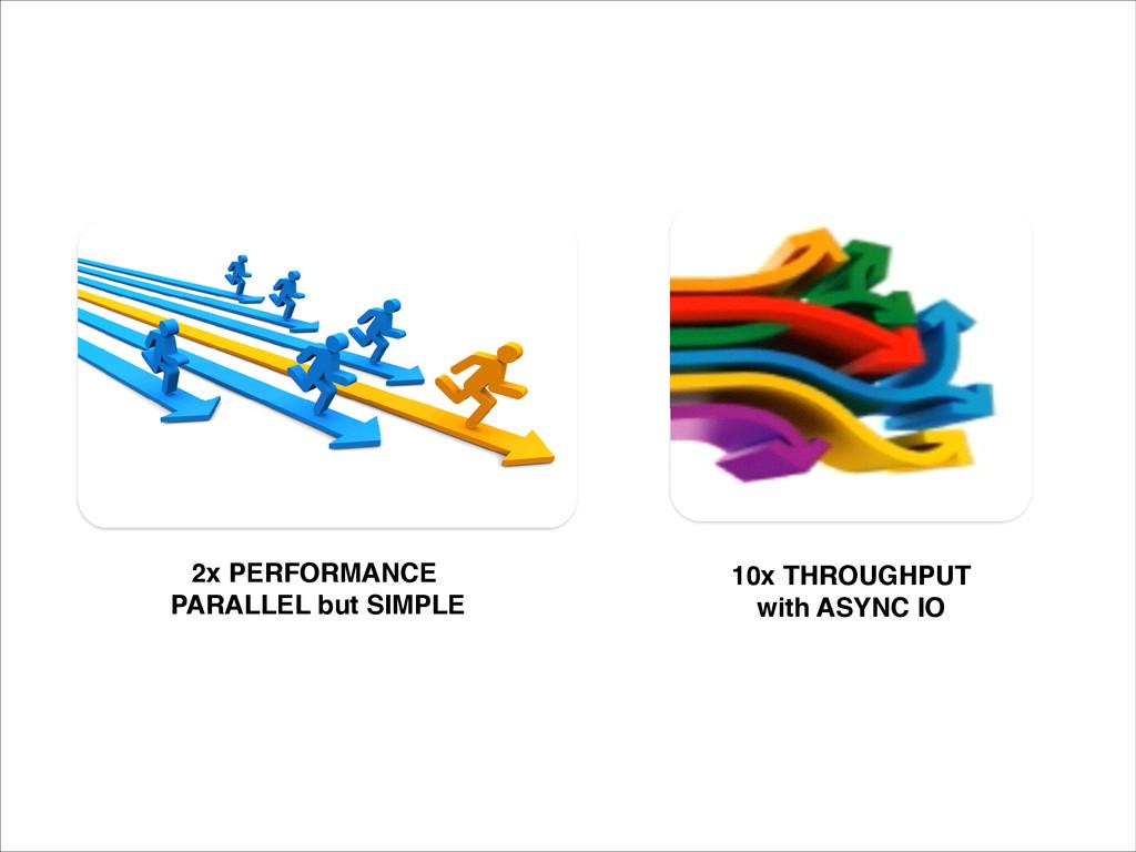 10x THROUGHPUT ! with ASYNC IO 2x PERFORMANCE! ...
