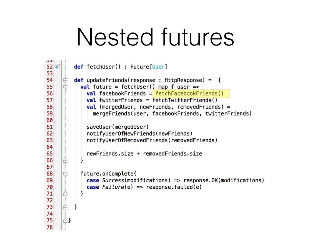 Nested futures